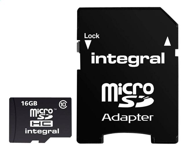 Image pour Integral carte mémoire microSDHC + adaptateur SD 16 Go à partir de ColliShop