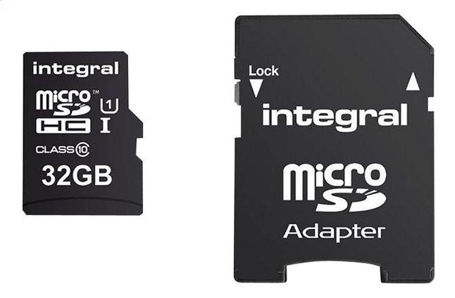 Image pour Integral carte mémoire microSDHC + adaptateur SD 32 Go à partir de ColliShop