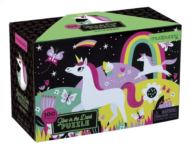 Image pour Mudpuppy puzzle Glow in het Dark Licornes à partir de ColliShop