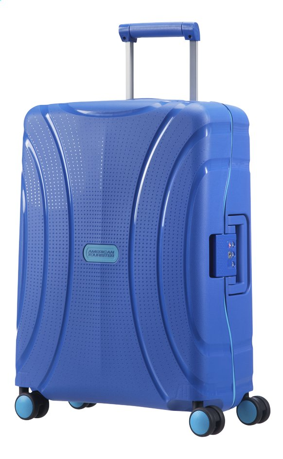 Afbeelding van American Tourister Harde trolley Lock'N'Roll Spinner skydiver blue 55 cm from ColliShop