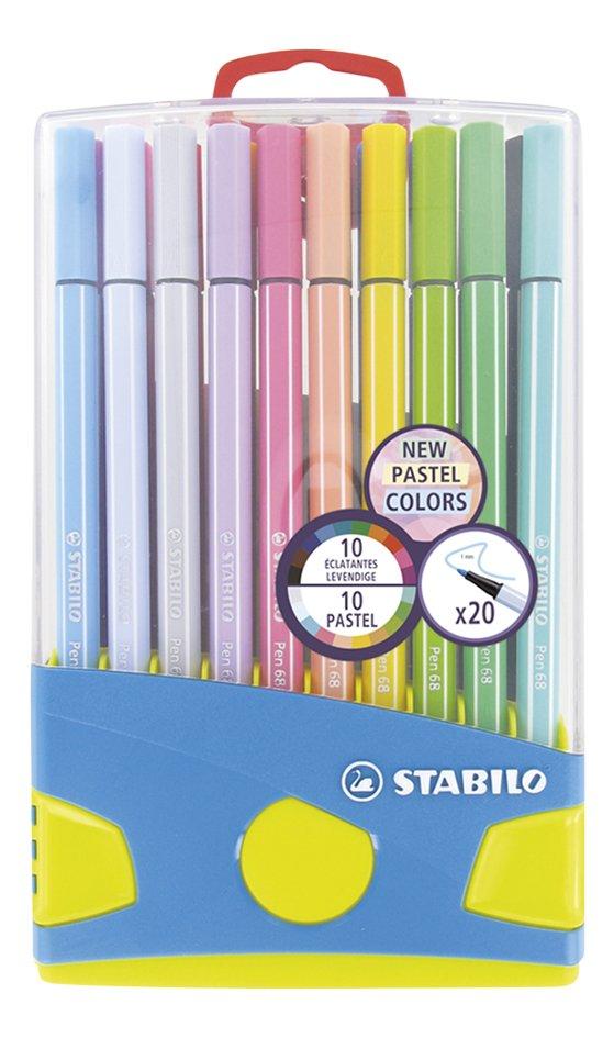 STABILO feutre Pen 68 Pastel Parade - 20 pièces
