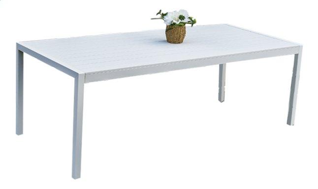 Image pour Table de jardin Cannes blanc L 220 x Lg 100 cm à partir de ColliShop