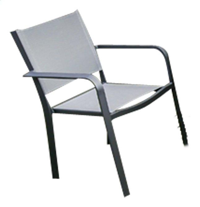 Image pour Chaise de jardin Cannes gris argenté/anthracite à partir de ColliShop