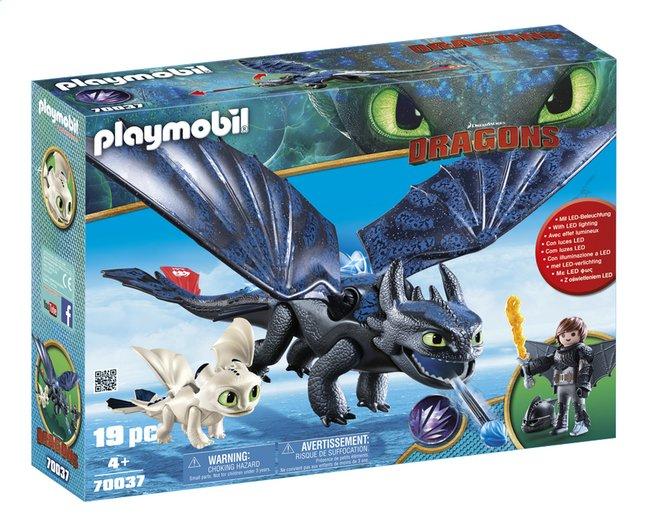 PLAYMOBIL Dragons 70037 Krokmou et Harold avec un bébé dragon