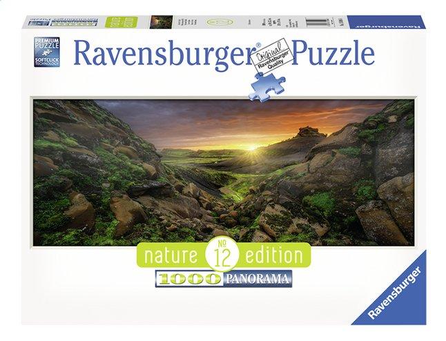 Afbeelding van Ravensburger panoramapuzzel Zon over IJsland from ColliShop