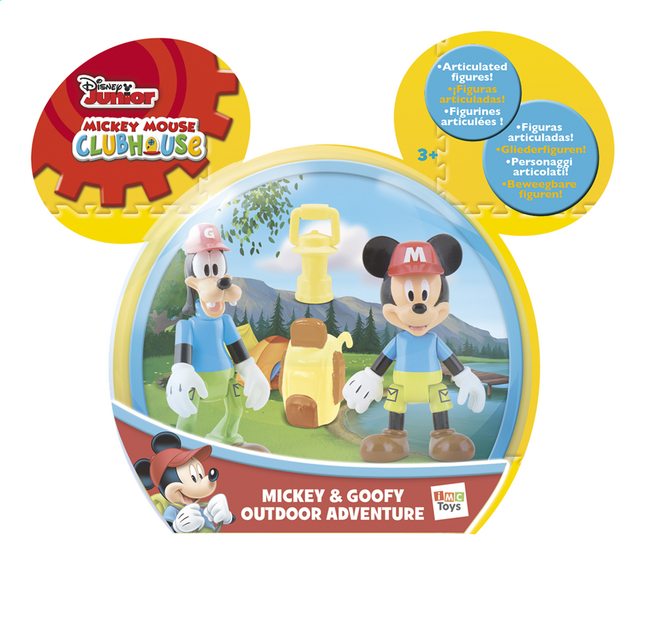 Afbeelding van Figuur Mickey Mouse Clubhouse Mickey & Goofy Outdoor Adventure from ColliShop