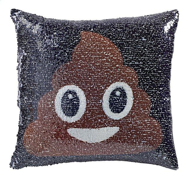 Afbeelding van Emoji Kussen pailletten poo/regenboog from ColliShop