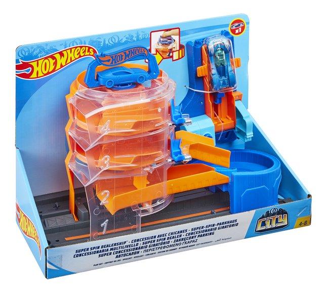 Hot Wheels City speelset Super Spin Dealership