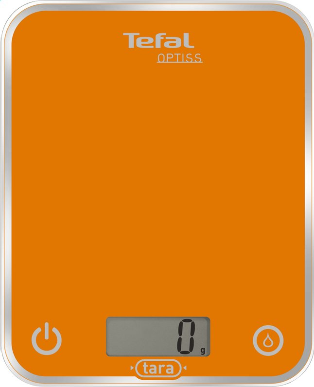 Afbeelding van Tefal keukenweegschaal Optiss oranje from ColliShop