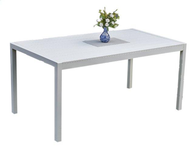 Image pour Table de jardin Cannes blanc L 160 x Lg 90 cm à partir de ColliShop