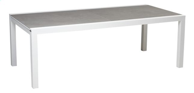 jati kebon table de jardin rallonge livorno c ramique gris clair l 220 x lg 106 cm collishop. Black Bedroom Furniture Sets. Home Design Ideas