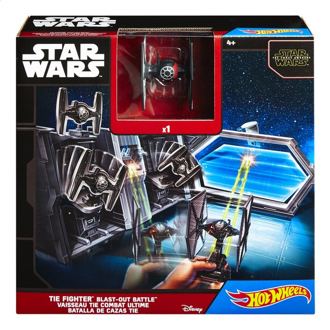 Afbeelding van Hot Wheels speelset Star Wars VII Tie Fighter Blast-Out Battle from ColliShop