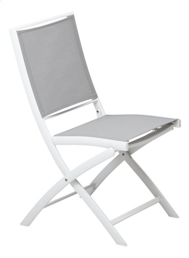 Image pour Ocean Chaise pliante Doka gris clair/blanc à partir de ColliShop
