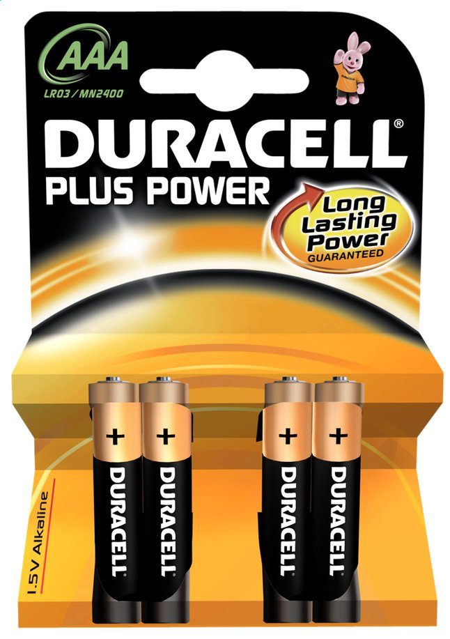 Image pour Duracell 4 piles AAA Plus Power à partir de ColliShop