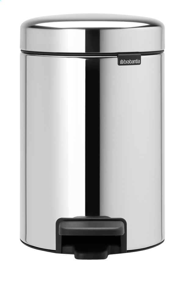 Afbeelding van Brabantia Pedaalemmer NewIcon Brilliant Steel 3 l from ColliShop