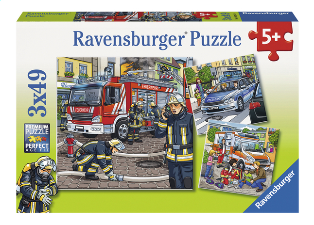 Afbeelding van Ravensburger Puzzel 3-in-1 Helpers in nood from ColliShop