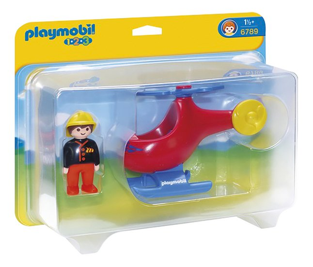 Afbeelding van Playmobil 1.2.3 6789 Brandweerhelikopter from ColliShop