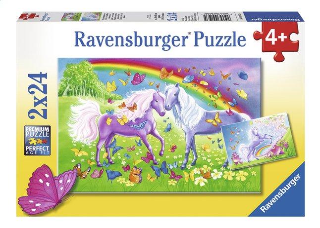 Image pour Ravensburger puzzle 2 en 1 Chevaux arc-en-ciel à partir de ColliShop