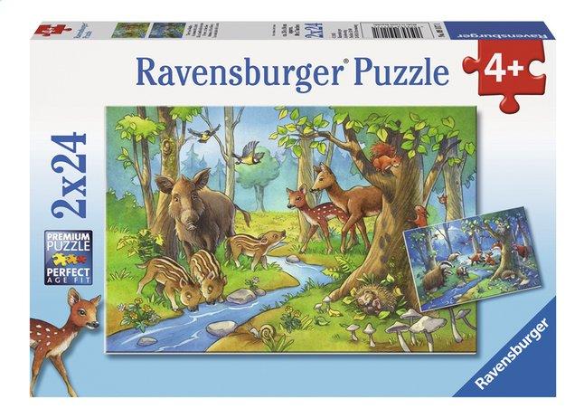 Afbeelding van Ravensburger Puzzel 2-in-1 Dieren uit het bos from ColliShop