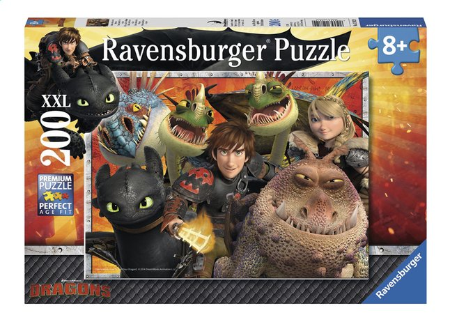 Image pour Ravensburger puzzle XXL Dragons Hicks, Astrid et les dragons à partir de ColliShop