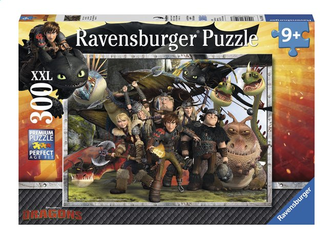 Afbeelding van Ravensburger XXL puzzel Dragons Trouwe vrienden from ColliShop