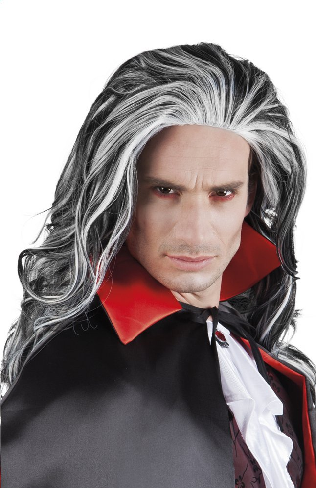 Afbeelding van Pruik vampier lang haar from ColliShop