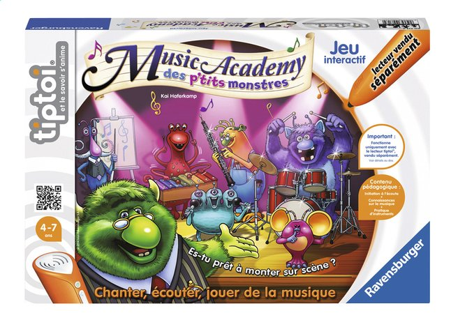 Afbeelding van Ravensburger Tiptoi Music Academy des p'tits monstres FR from ColliShop