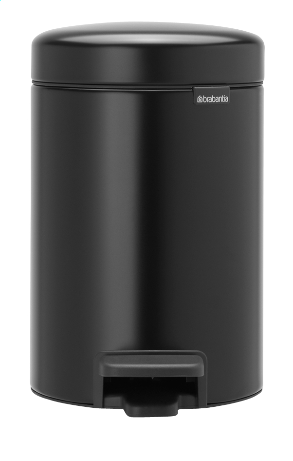 Afbeelding van Brabantia Pedaalemmer NewIcon matt black 3 l from ColliShop