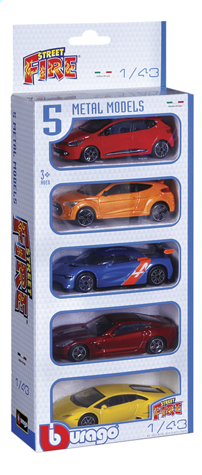 Image pour Bburago 5 voitures Street Fire à partir de ColliShop