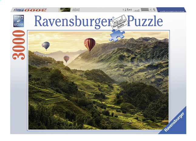 Afbeelding van Ravensburger puzzel Rijstterrassen in Azië from ColliShop