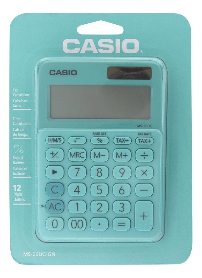 Casio rekenmachine Colorful MS-20UC lichtgroen