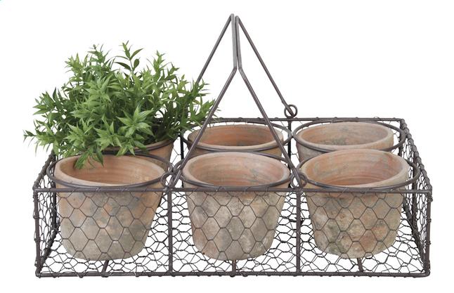 Image pour Esschert panier en métal avec 6 pots à partir de ColliShop