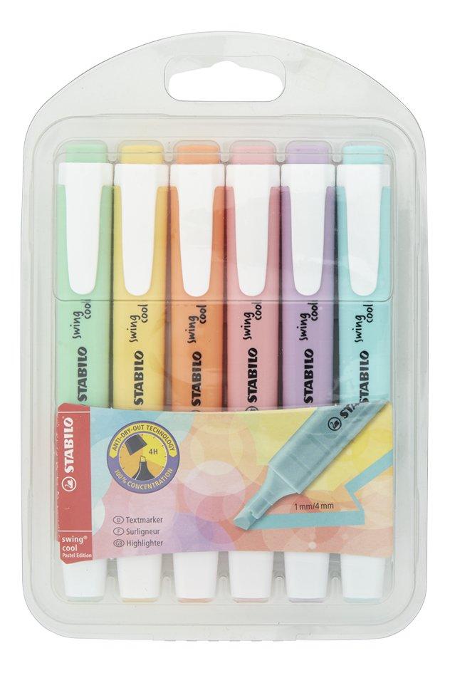 Afbeelding van STABILO Swing Cool fluostift Pastel - 6 stuks from ColliShop