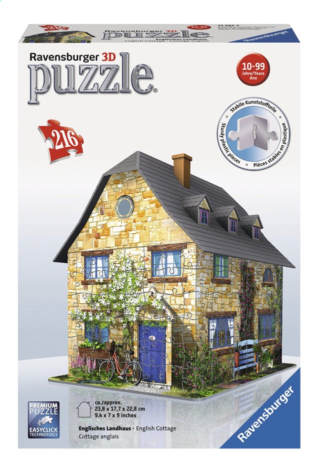 Afbeelding van Ravensburger 3D-puzzel English cottage from ColliShop