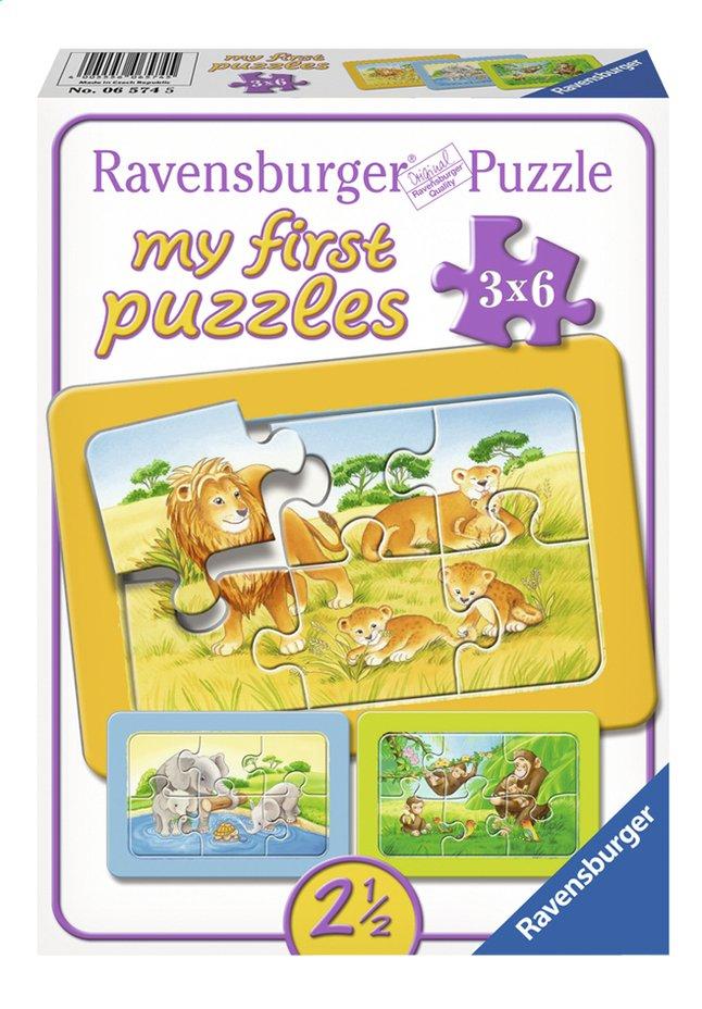Afbeelding van Ravensburger Puzzel 3-in-1 My First Aap, Olifant en leeuw from ColliShop