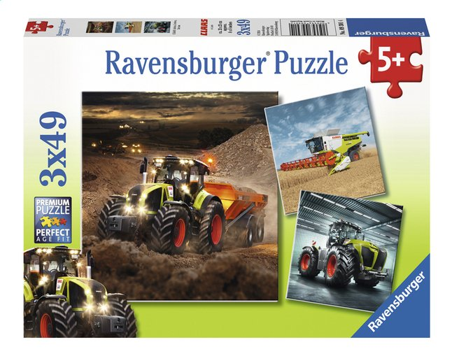 Afbeelding van Ravensburger Puzzel 3-in-1 CLAAS Axion, Lexion Xerion from ColliShop