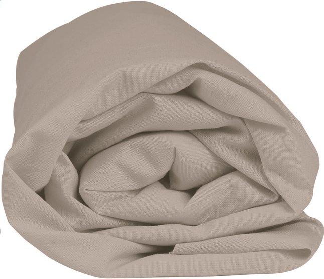 Image pour Home lineN drap-housse Bicolore taupe en flanelle 160 x 200 cm à partir de ColliShop