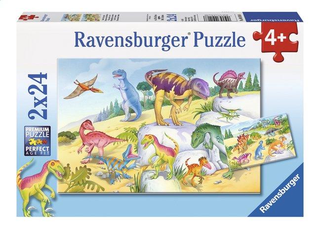 Image pour Ravensburger puzzle 2 en 1 Dinosaures multicolores à partir de ColliShop