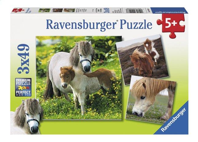 Afbeelding van Ravensburger Puzzel 3-in-1 Lieve pony's from ColliShop