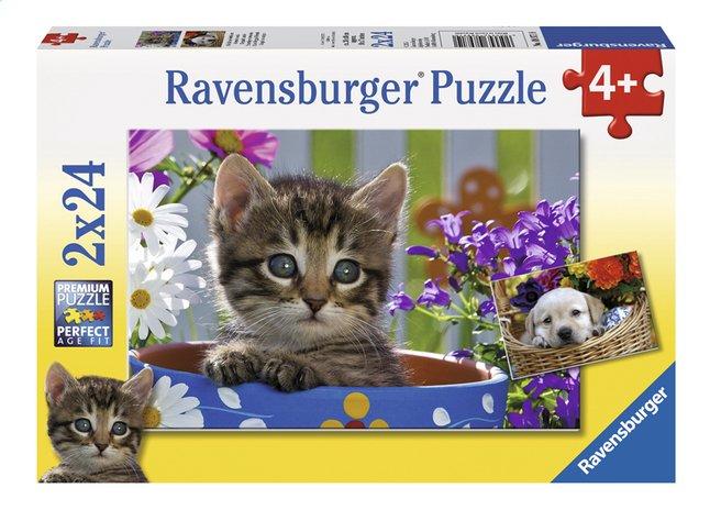 Image pour Ravensburger puzzle 2 en 1 Amis à quatre pattes à partir de ColliShop