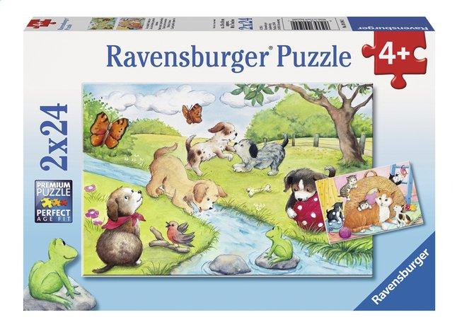 Afbeelding van Ravensburger Puzzel 2-in-1 Spelende viervoeters from ColliShop