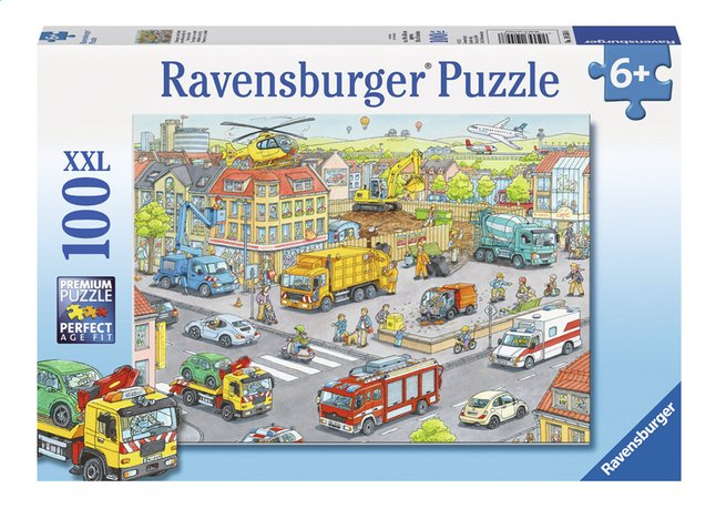 Image pour Ravensburger puzzle XXL Véhicules dans la ville à partir de ColliShop