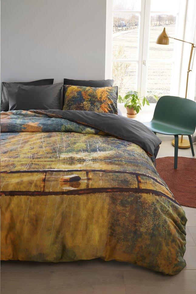 Image pour Beddinghouse Housse de couette Autumn waters ocre coton 200 x 220 cm à partir de ColliShop