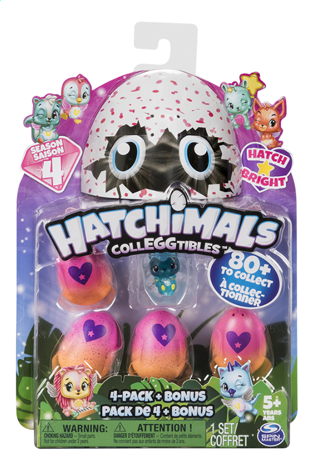 Image pour Hatchimals CollEGGtibles 4-pack + Bonus Saison 4 à partir de ColliShop