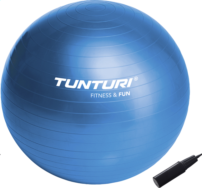 Image pour Tunturi balle de gymnastique Fitness & Fun bleu à partir de ColliShop