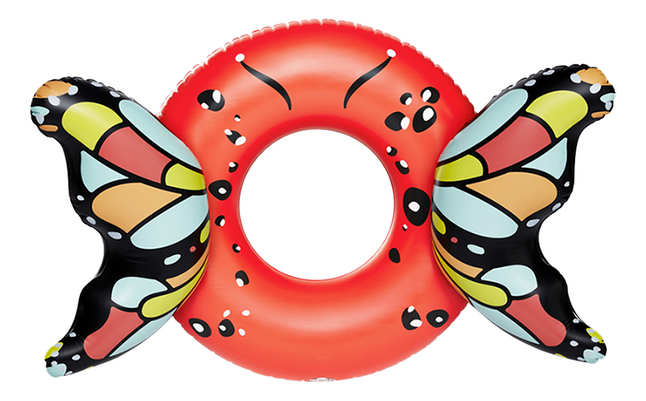 BigMouth grote zwemband Butterfly Wings Red