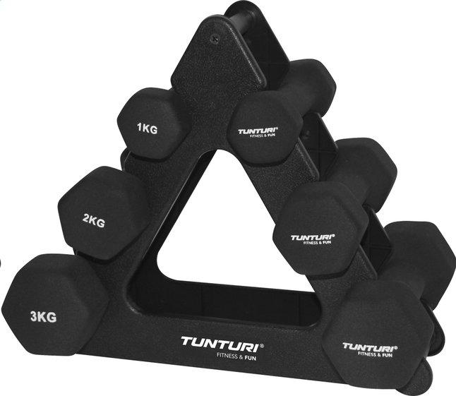Image pour Tunturi set d'haltères noir à partir de ColliShop