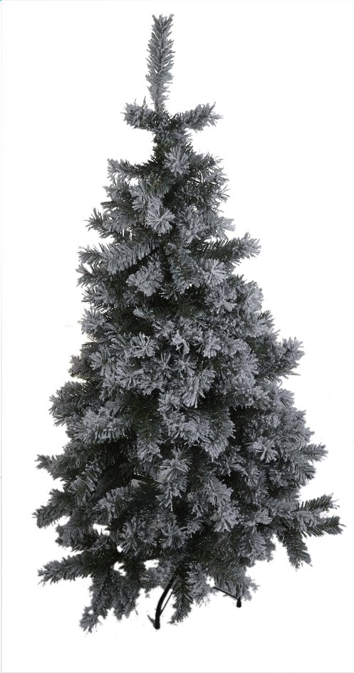 Sapin de Noël vert enneigé 150 cm
