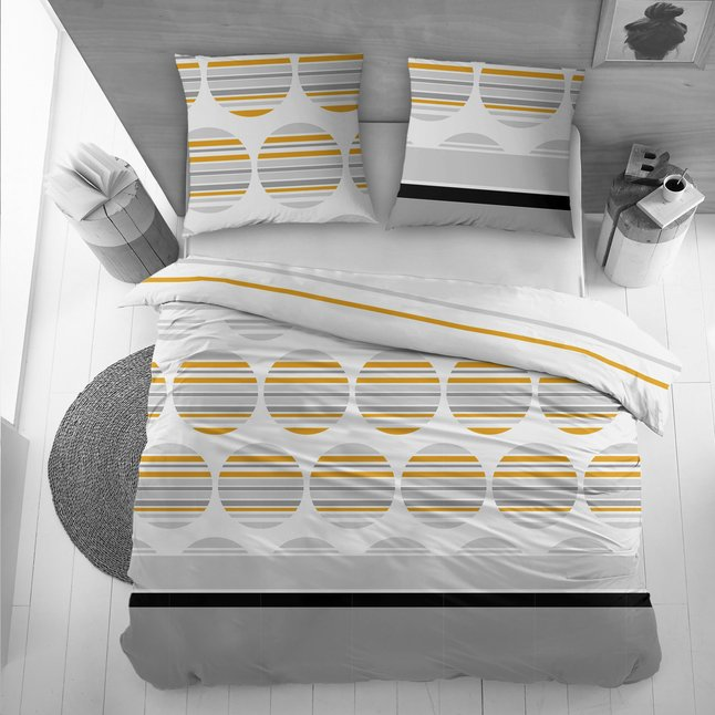 Afbeelding van Dekbedovertrek Fresh orange katoen 140 x 220 cm from ColliShop