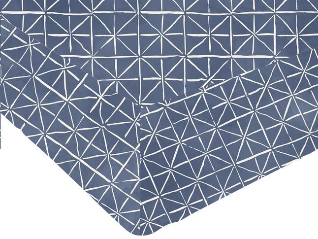 Image pour Origin Drap-housse Priscilla bleu bambou/coton à partir de ColliShop